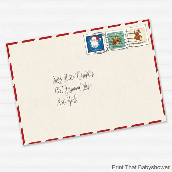 picture about Printable Santa Envelopes identify Printable Envelope for Letter in opposition to Santa or Xmas Letter Printable Down load - Santas Envelope