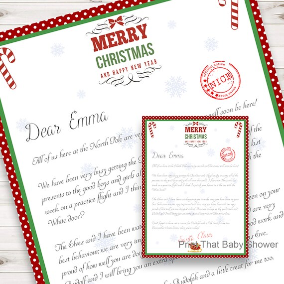 photograph about Dotty Paper Printable named Tailored Letter against Santa Xmas Letter Printable