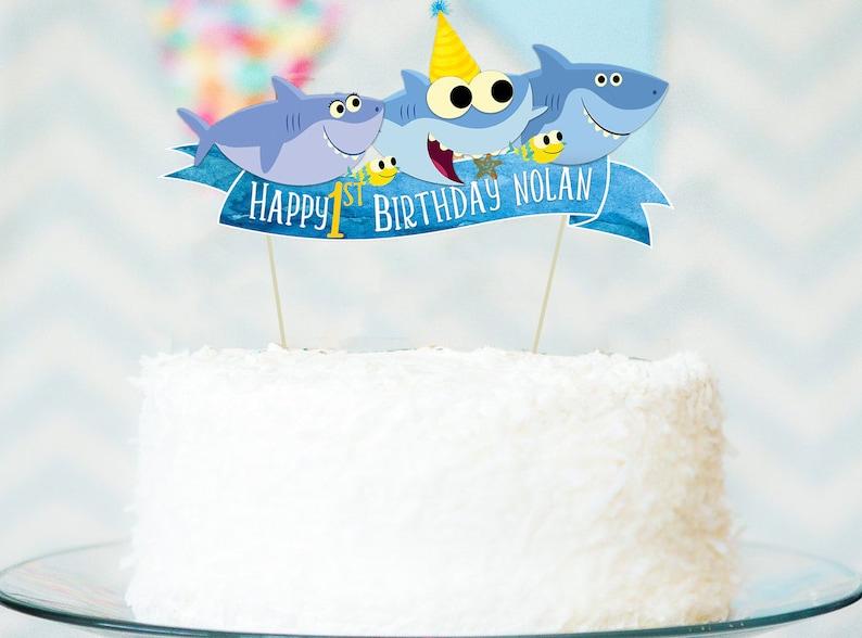 Requin Anniversaire » Gâteau Vous Bébé Imprimer « Numérique Joyeux Fichier Même ZkilwTOPXu