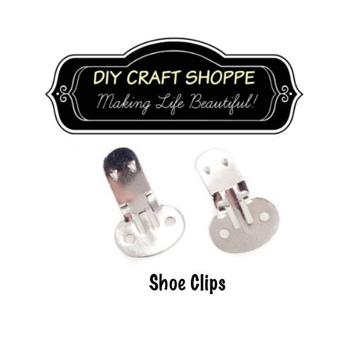f07cb26c8f07 Shoe Clips Blanks - 10 (5 pairs) with Rounded Pad
