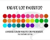 Procreate - Dià de los Muertos color palette