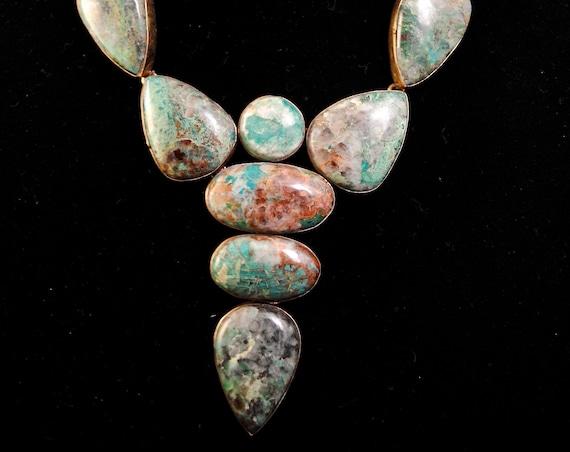 Chrysocolla Freeform Necklace #10747