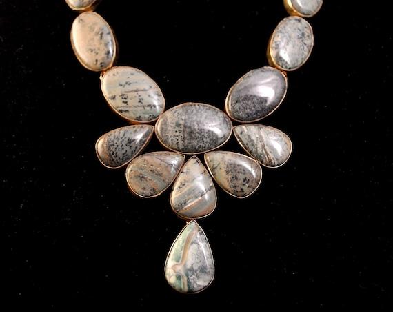 Agate Freeform Necklace #10189