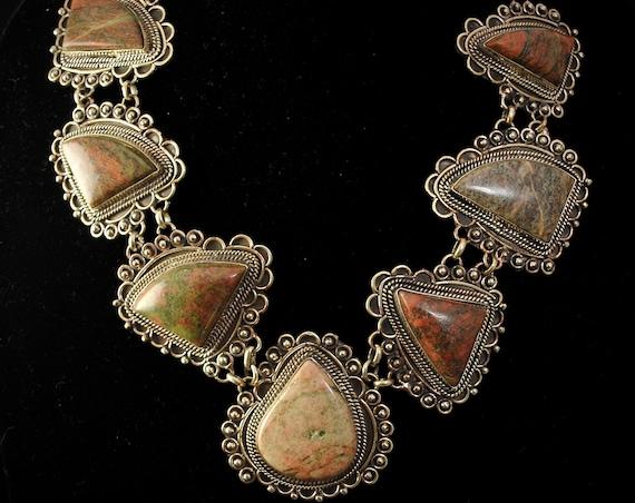 Unique Jasper Necklace #11390