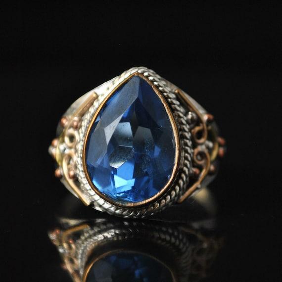 Sterling Silver Swiss Blue Topaz Ring Sz 8  #10326