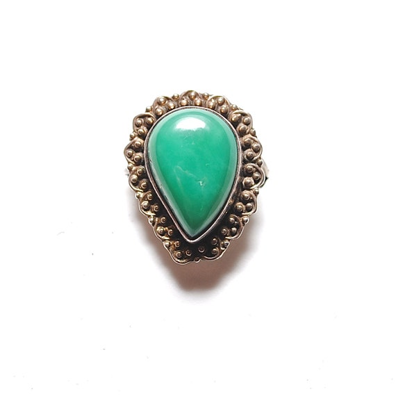 Sterlings Silver Turquoise Ring Sz 8.75 #1804