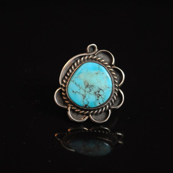 Sterling Silver Native American Turquoise Ring Sz 6.75 #4198
