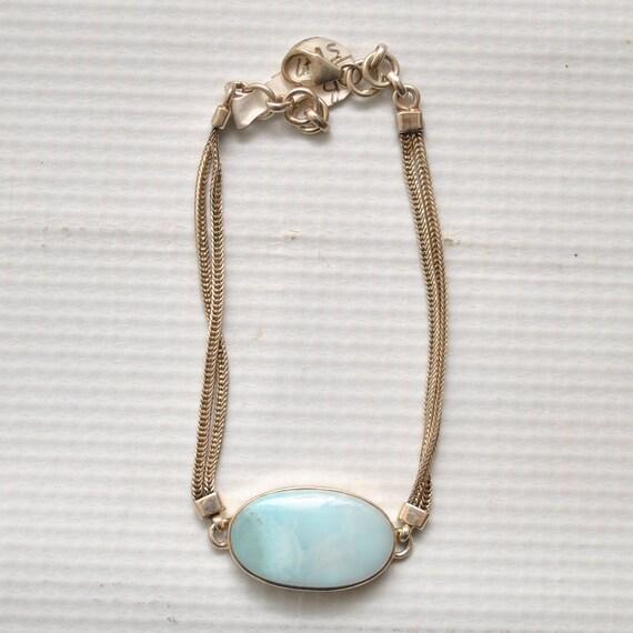 Sterling Silver Larimar Bracelet #5347