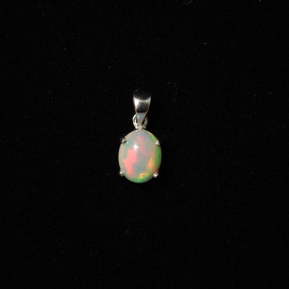 Sterling Silver Opal Pendant  #13785