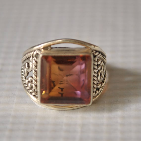 Sterling Silver Ametrine Ring Sz 5.75  #9820
