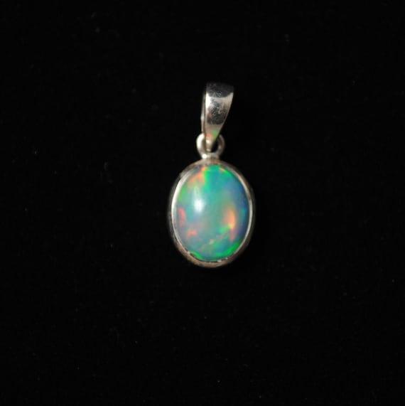 Sterling Silver Opal Pendant  #13783