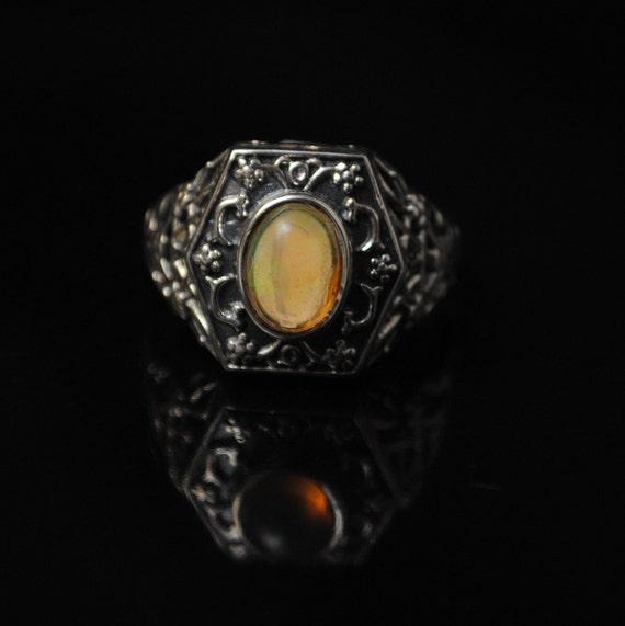 Sterling Silver Ethiopian Opal Ring Sz 8.5 #11181
