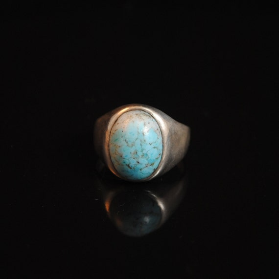 Sterling Silver Native American Turquoise Ring Sz 10.5 #13291
