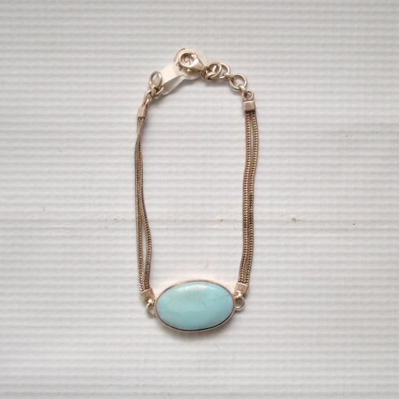 Sterling Silver Larimar Bracelet #5346