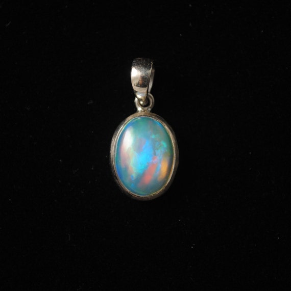 Sterling Silver Opal Pendant  #13779
