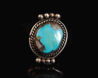 Sterling Silver Native American Turquoise Ring Sz 5.5 #4183