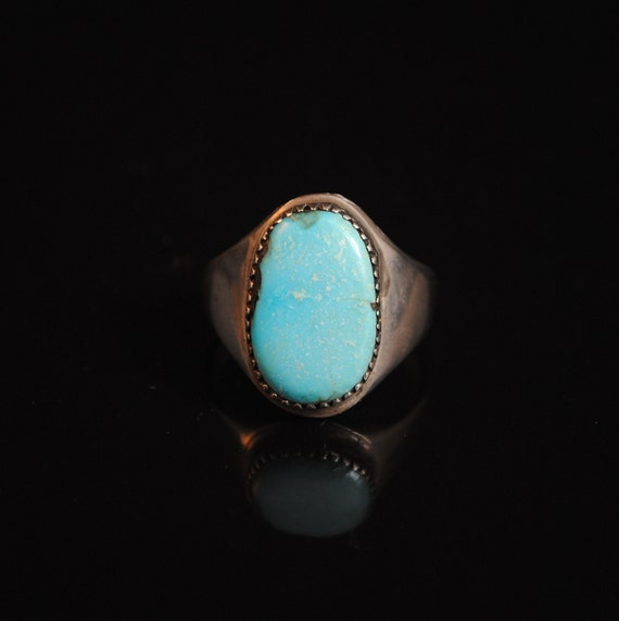 Sterling Silver Native American Turquoise Ring Sz 11.75 #13292