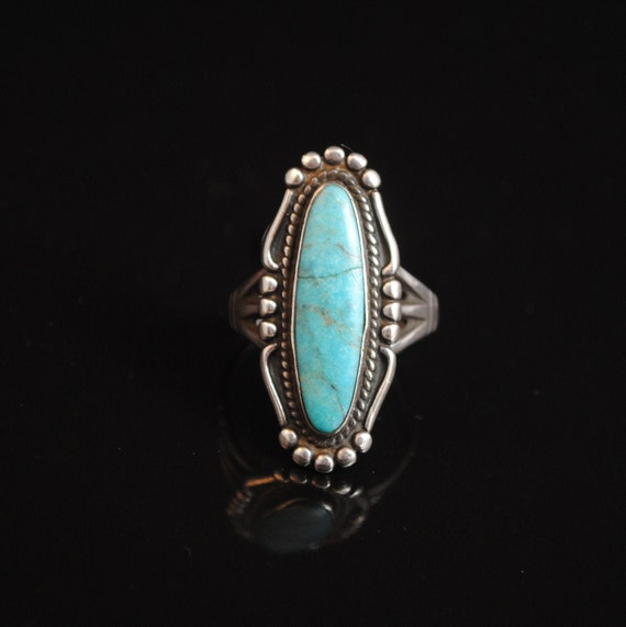 Sterling Silver Native American Turquoise Ring Sz 9.25 #13281