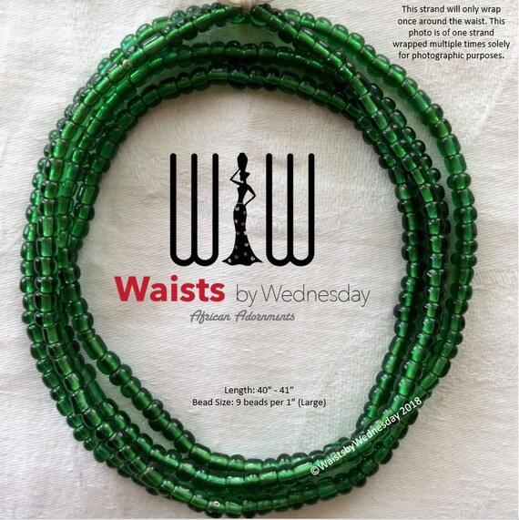 Emerald Green African Waist Beads Etsy