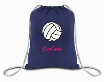 Personalized Volleyball Drawstring Bag in MANY COLORS for the Gym, School,  Outings, and More, Sack Sports Kids a65d5fcd5f