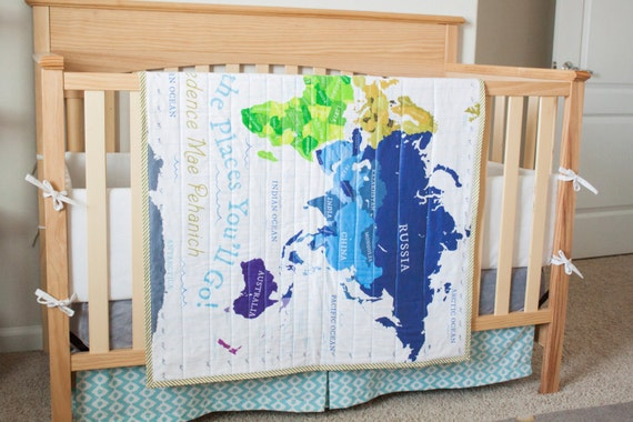 World Map Quilt Pattern.World Map Quilt Map Quilt Organic Baby Quilt Organic Etsy