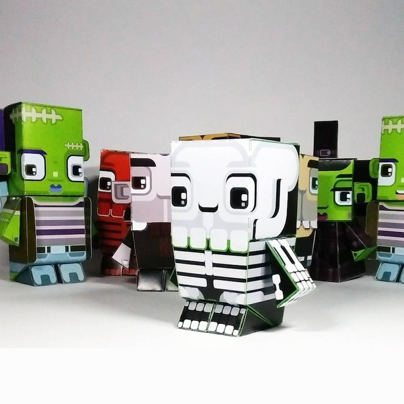 D.I.Y Paper Craft Activity Halloween White Skeleton   50% of image 0