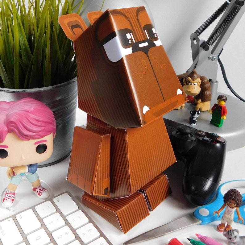 Paper Toy Craft Activity Brown Bear   Super D.I.Y kids craft image 0