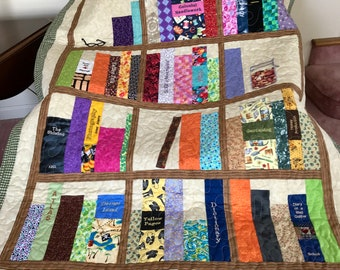 Book Shelves Embroidered And Pieced Throw Quilt 52 X 40