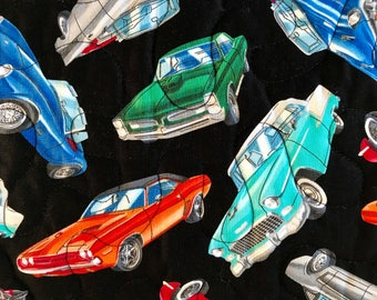 """Chevy and Ford Pieced Throw Quilt, 42""""  x 53"""""""