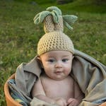 Crochet Root Hat Photo Prop Costume Dress Up