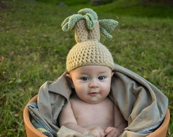 Crochet Mandrake Hat Photo Prop Costume Dress Up