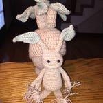 Crochet Root Hat and Amigurumi Photo Prop Dress Up Costume