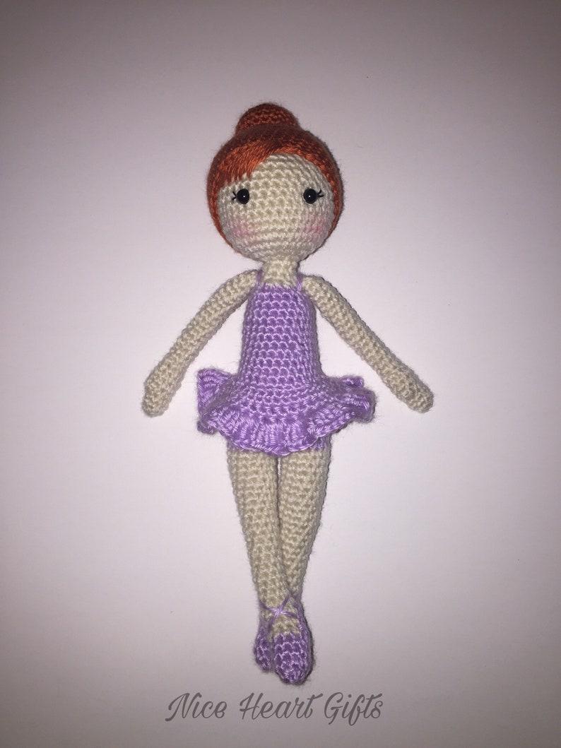 Amigurumi Ballerina Doll Crochet Photo Prop image 0