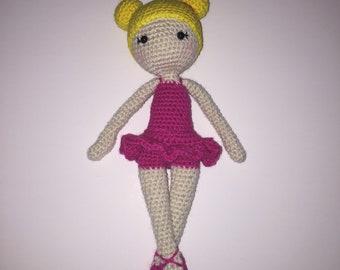 Ballerina Doll Crochet Amigurumi Photo Prop