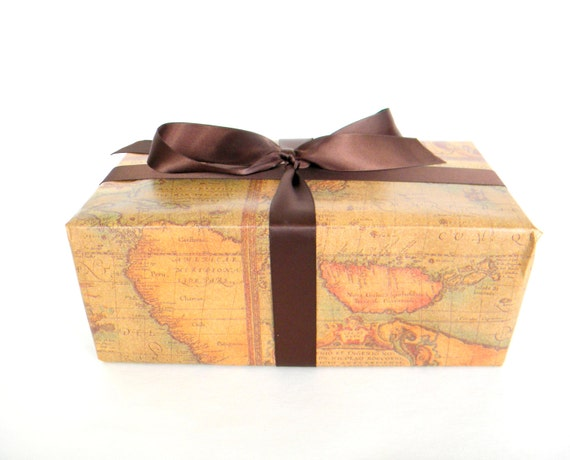 Old world map wrapping paper 10 ft x 2 ft roll masculine gift old world map wrapping paper 10 ft x 2 ft roll masculine gift wrap gift wrap for man fathers day wrapping paper from cmwrapnshipsupply on etsy studio gumiabroncs Image collections