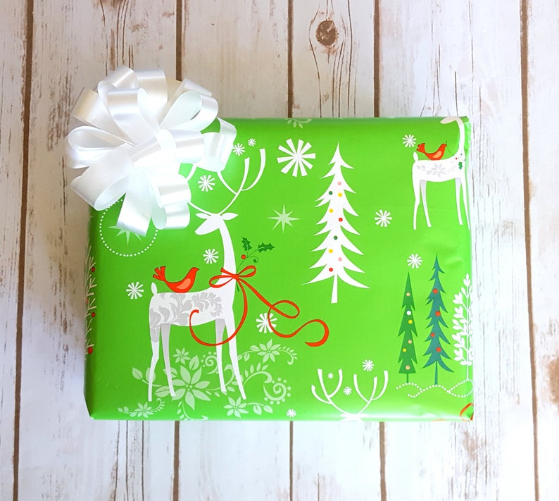 0cc125787837f Elegant Deer Christmas Wrapping Paper 10 ft x 2 ft. Roll