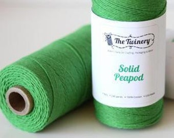 Solid Peapod Green Bakers Twine, 240 yards / 219 m. Christmas Green, 1 SPOOL