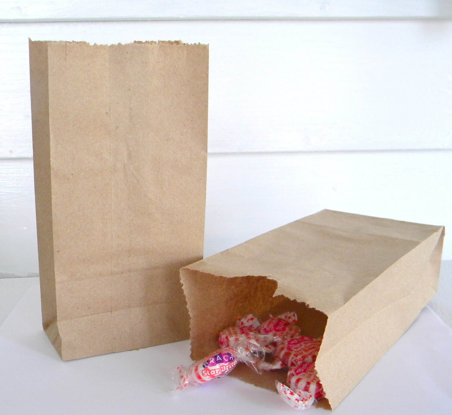 20 Extra Small Brown Kraft Paper Bags, 3.5\