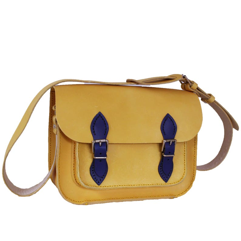 Yellow Satchel Yellow Handbag Yellow Bag Leather Bag Yellow image 0