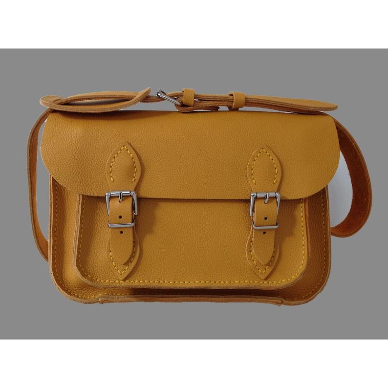 Yellow Leather satchel Medium size Leather satchel  Yellow image 0