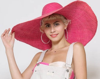 10a335b7c0a Hot pink straw hat
