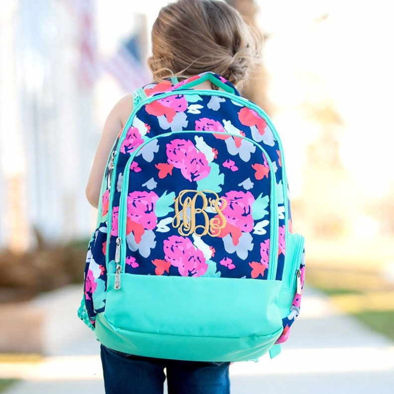 Monogrammed Backpack Lunch box Amelia