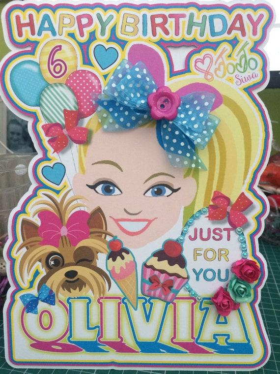 Jojo Siwa Birthday Card Jojo Birthday Party Jojo Bows