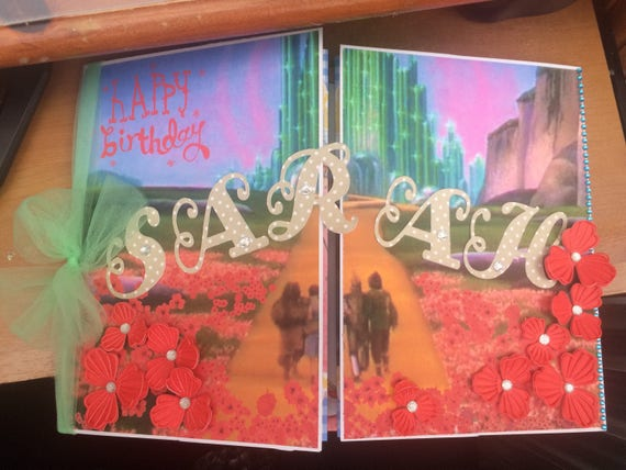 Customised Hand Made Card Wizard Of Oz Birthday Card