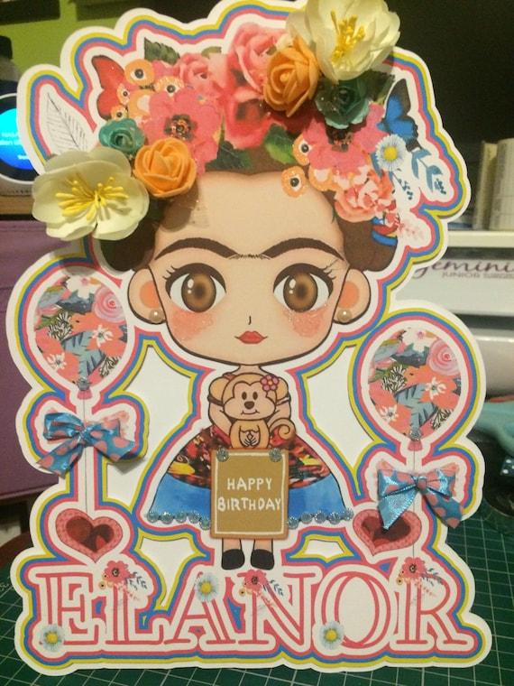 Frida Kahlo Birthday Card Frida Birthday Card Frida Kahlo