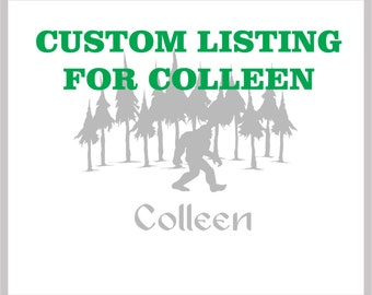 Custom listing for Colleen - 1 Sasquatch themed stemless wine glass with Roger under