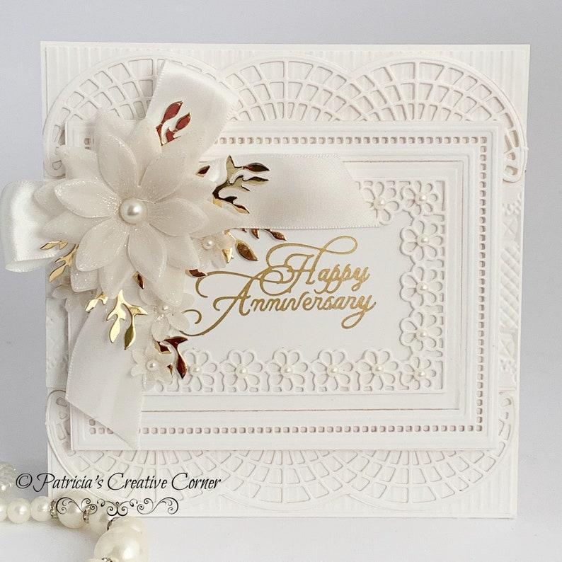Delicate Happy Anniversary Card image 0