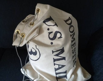 Vintage style reproduction mail bag change bag