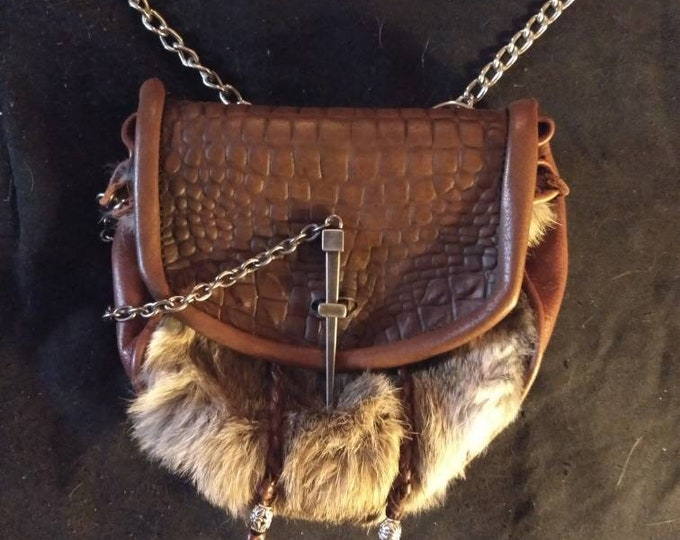 Custom Leather Hunting Sporran