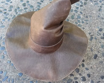 Leather Wizard Hat